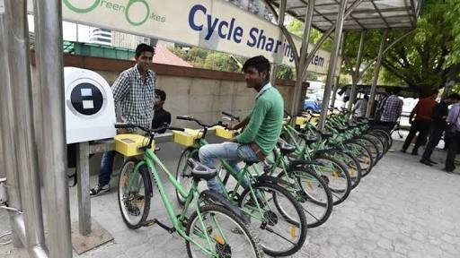 green cycling, cycle on rent