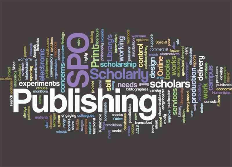 SPO, Publishing, scholars, design, word cloud