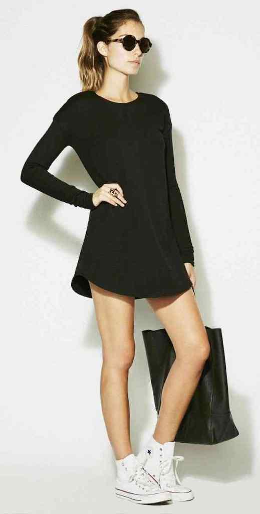 girl, model , in black dress