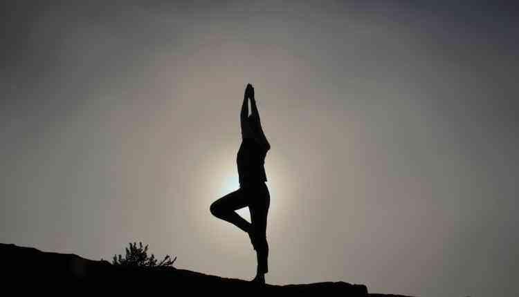 yoga pose, yoga dark pose, sun, exercise