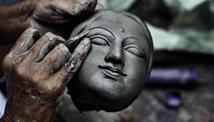 Maa Durga Idol Making