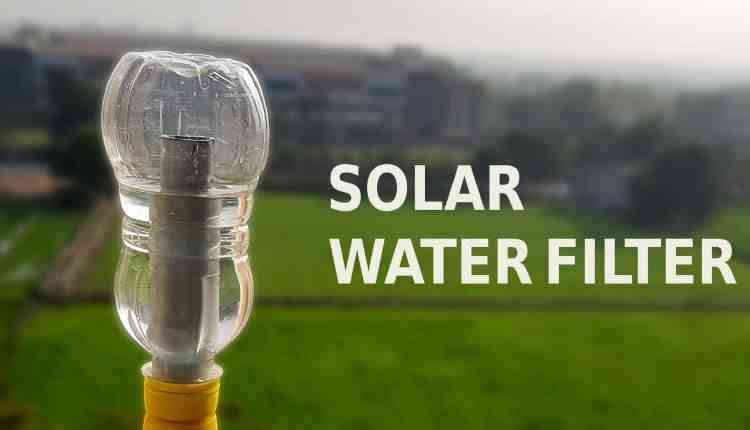 Solar operated portable water purifier