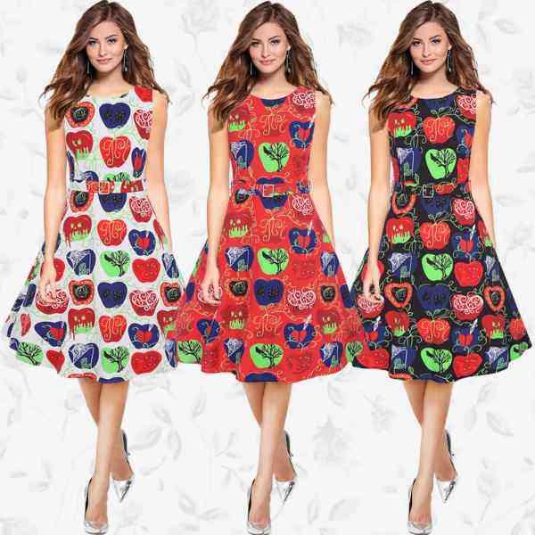 Printed A- Line Dress