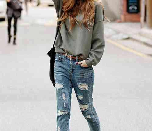 girl in Rugged Jeans