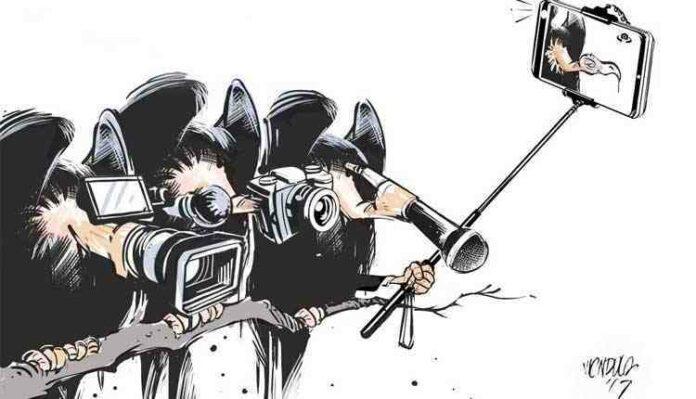 Biased media cartoon