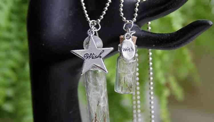 Dandelion Bottle Necklace
