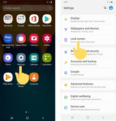 Samsung One UI Hide notification