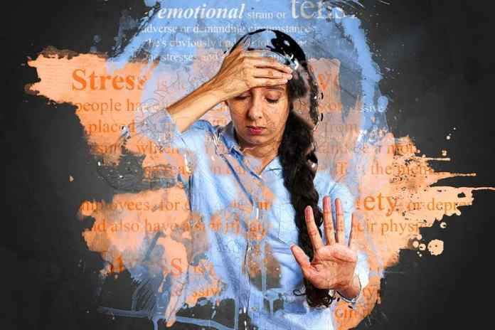Mental health, stress, depression girl, word cloud