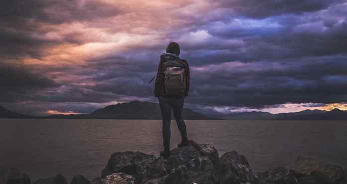 Single Woman, hiker, backpack