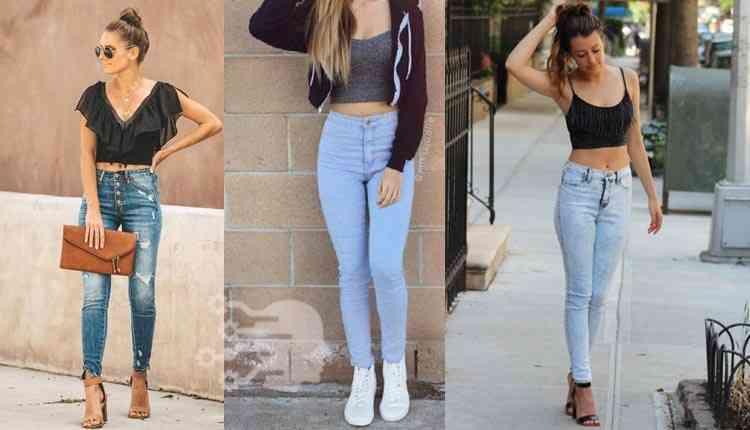 Black Tank, Top, Blue Jeans, Tik Tok