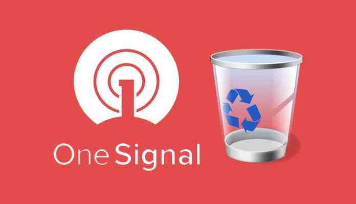 Onesignal Trash Can