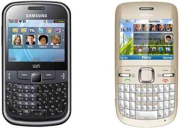 Samsung Chat 335 Vs Nokia C3 00