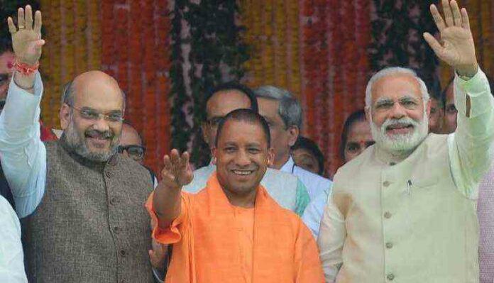 Yogi Adityanath, Modi, Amit Shah
