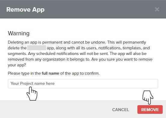 Onesignal Remove App