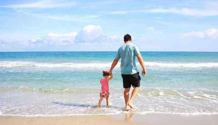 Career Break, Vacation, Beach, Father, Child, Girl