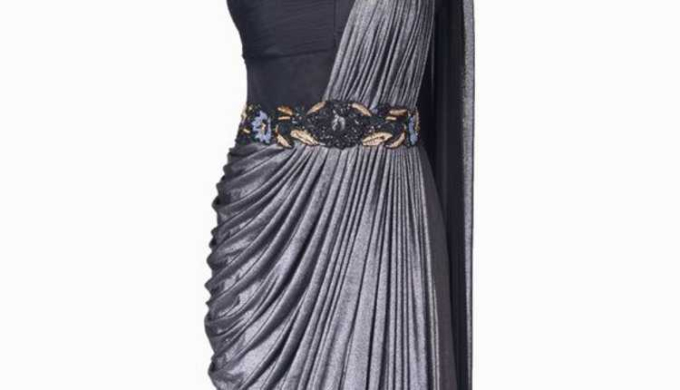 Draped Cocktail Gown Saree