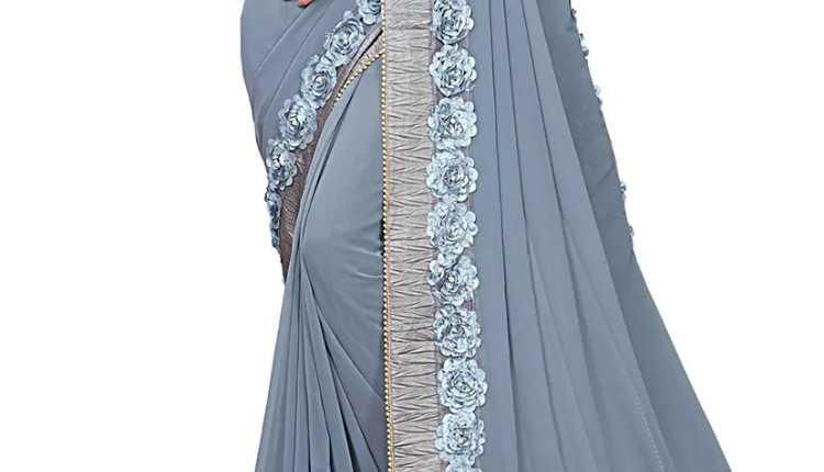Floral Border Saree Design
