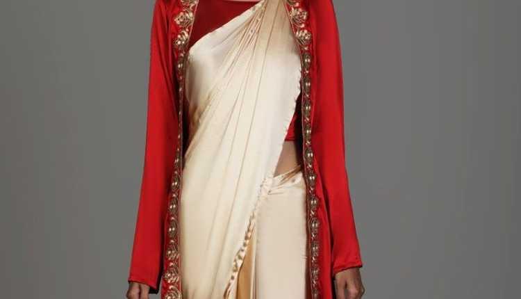 Jacket Style Saree Look