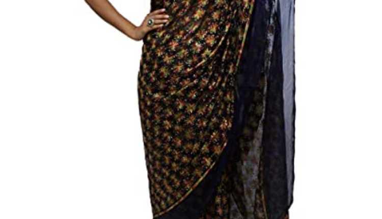 Phulkari Saree Design