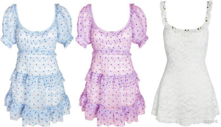 Victorias Secret Harper Ruffle Slip Dress