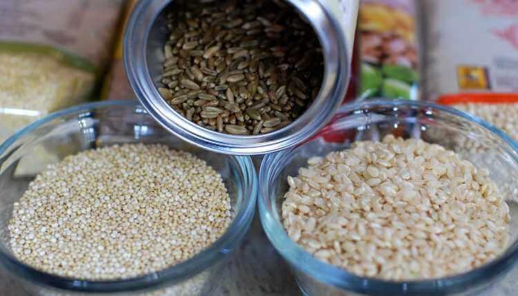 Grains,brown Rice,quinoa,freekeh Brown