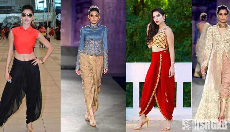 Indian Models In Dhoti Pants