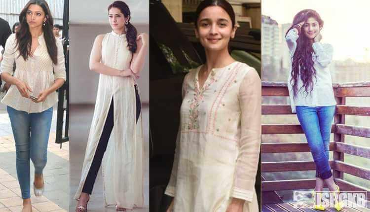 Kurta With Jeans, Alia Bhatt, Deepika,charmy Kaur, Rashi, Sai Pallavi