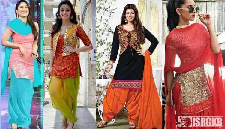Kurti With Patiala Bollywood Actresses