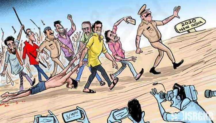 Mob Lynching, Cartoon