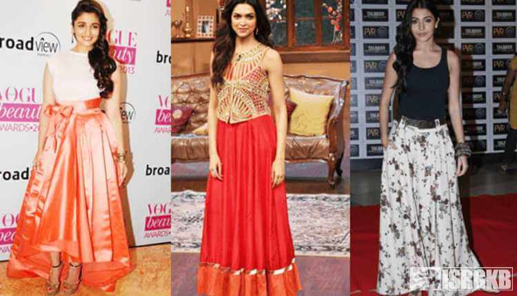Alia Bhatt, Deepika, Anushka In Long Skirt