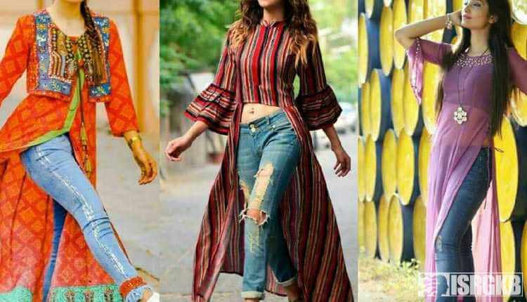 Bollywood, Indian, Slit Kurtas With Jeans