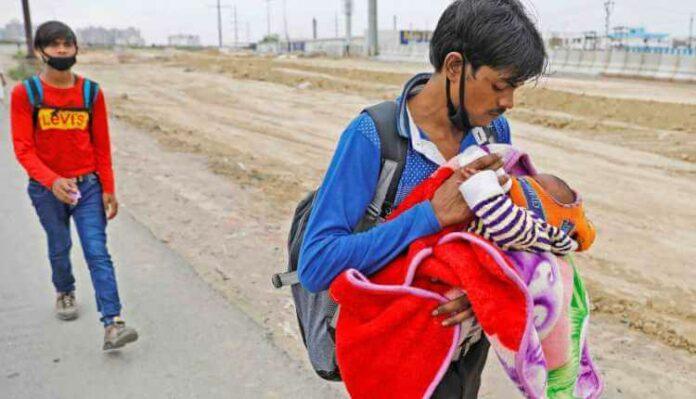 Coronavirus, Woman, Walking, Newborn, Migrant Workers