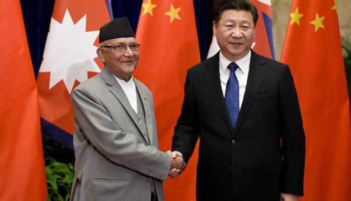 Kp Sharma, Oli Xi Jinping, nepal