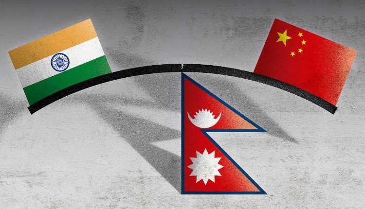China, Nepal and India