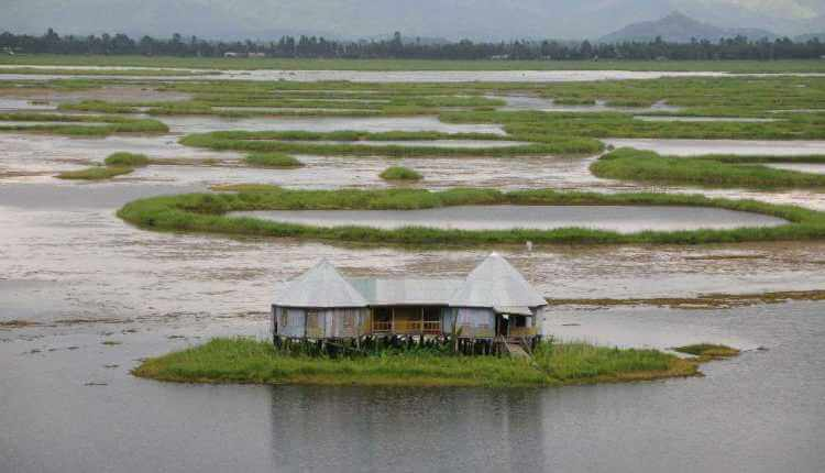 Floating Island Of Loktak Lake, Manipur