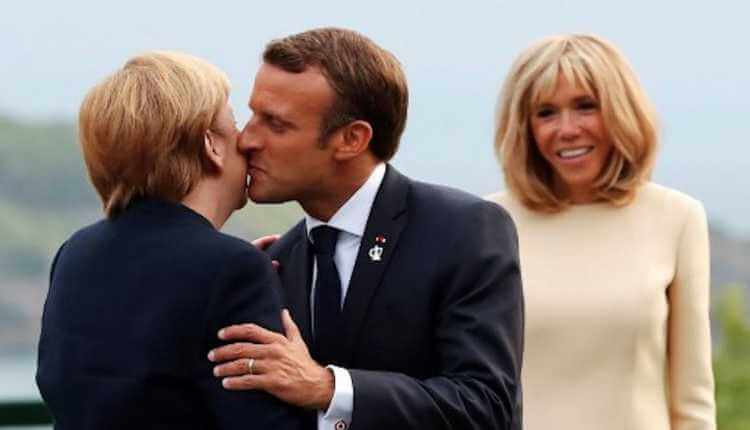 French Unique Way Of Greeting, Greeting Kiss, President Of France
