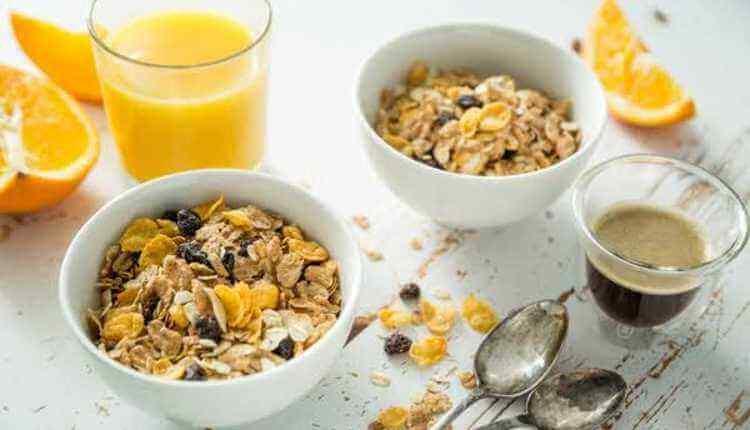 Juice, Cereals, Breakfast, Table, Cup