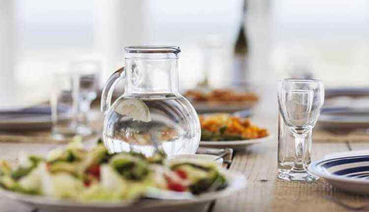 Water, Food, Glass, Dinner, Table