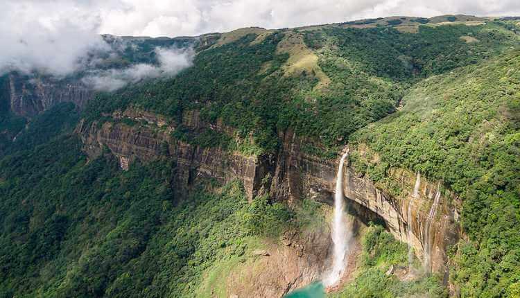 Cherrapunji, Meghalaya, greenery, mountains, waterfall