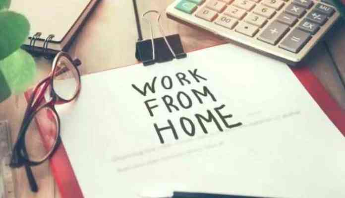 work from home, specs, calculator, paper pin, table