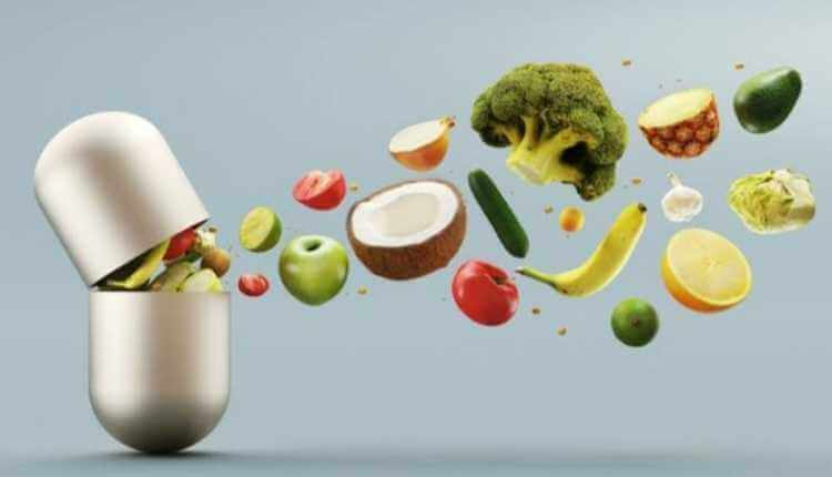 Medicine, Supplements, Fruits, Vegetables, Salad