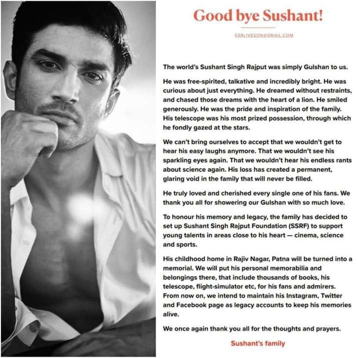 Goodbye Sushant