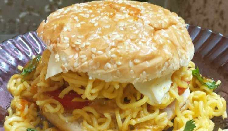 Maggi Veg Patty Burger