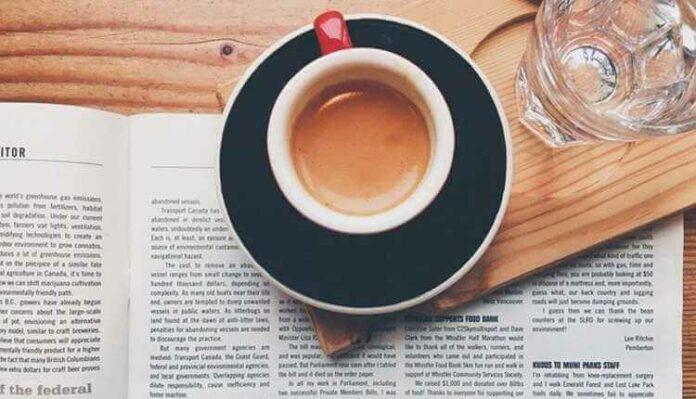 Newspaper, Tea, Breakfast, Newspaper Reading, Glass, Water