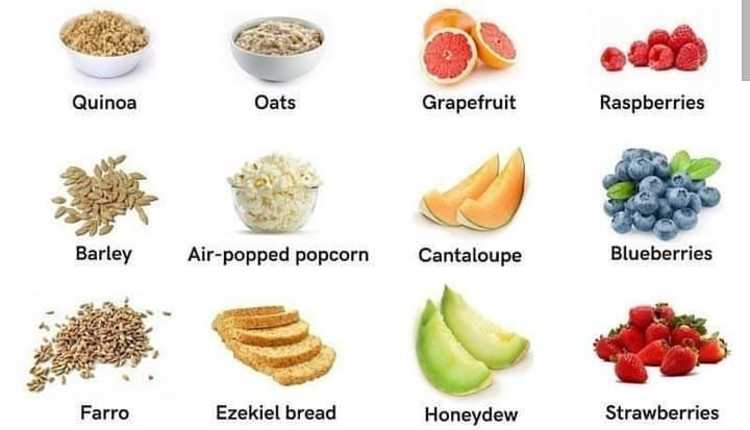 Some of the Carbohydrate-rich foods