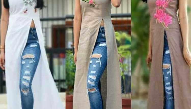 Basic Kurta With Jeans