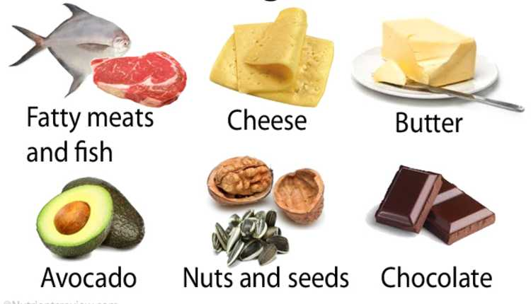 Some of the foods rich in fats