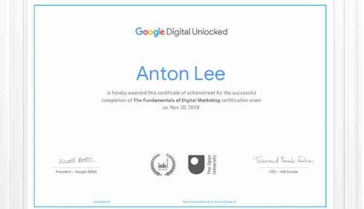 Fundamentals Of Digital Marketing By Google