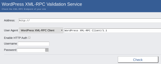 Xmlrpc Validation Service