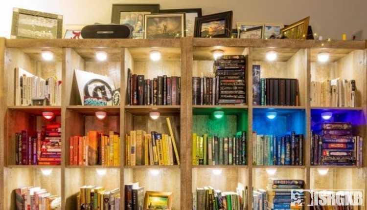 Brightly Lit Bookshelves
